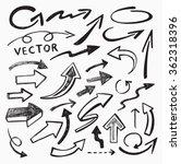 vector black arrow icon on... | Shutterstock .eps vector #362318396