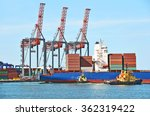 container stack  ship and...