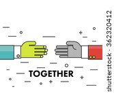 let's do it together. flat thin ... | Shutterstock .eps vector #362320412