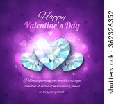 valentines day greeting card.... | Shutterstock .eps vector #362326352