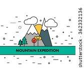 thin flat line mountain... | Shutterstock .eps vector #362332136