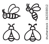 bee icon in four variations.... | Shutterstock .eps vector #362333012