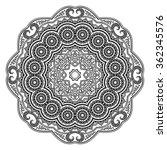 vector henna tatoo mandala.... | Shutterstock .eps vector #362345576