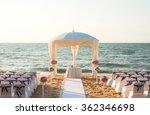 beach wedding setup | Shutterstock . vector #362346698