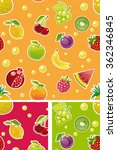 seamless fruit pattern tile... | Shutterstock .eps vector #362346845
