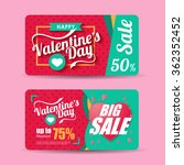 valentine's day sale design... | Shutterstock .eps vector #362352452