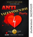 anti valentines day party flyer. | Shutterstock .eps vector #362354105