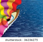 sailing ship and abstract...