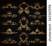 set of gold monogram for... | Shutterstock .eps vector #362365958
