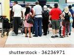 airport crowd | Shutterstock . vector #36236971