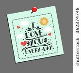 valentines day greeting card. ... | Shutterstock .eps vector #362374748