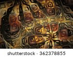 abstract metal mosaic. fantasy... | Shutterstock . vector #362378855
