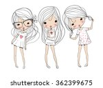 cute girls | Shutterstock .eps vector #362399675