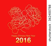 chinese new year blooming peony ... | Shutterstock .eps vector #362400788