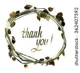 thank you  hand drawn... | Shutterstock . vector #362407592