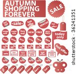 autumn shopping signs. vector   Shutterstock .eps vector #36241351