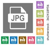 jpg file format flat icon set...