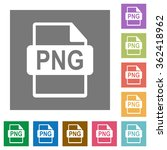 png file format flat icon set...