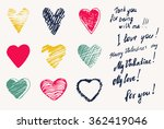 set  a collection of painted... | Shutterstock .eps vector #362419046