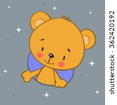 cute teddy bear on gray... | Shutterstock .eps vector #362420192