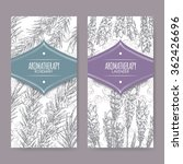 Set Of 2 Labels With Lavender...