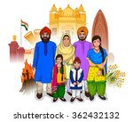 vector design of bengali family ... | Shutterstock .eps vector #362432132