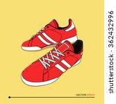 shoes. vector   Shutterstock .eps vector #362432996