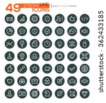 set of 49 thin line vector... | Shutterstock .eps vector #362433185