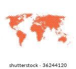 world map in hexagons | Shutterstock . vector #36244120