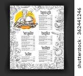 cafe  restaurant vector menu... | Shutterstock .eps vector #362441246