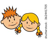 kids  head  vector icon | Shutterstock .eps vector #362441705