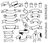 ribbons doodle. hand drawn... | Shutterstock .eps vector #362441822