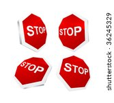 vector stop sign | Shutterstock .eps vector #36245329