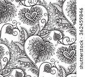 vector seamless pattern with... | Shutterstock .eps vector #362459846