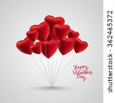 group of red satin balloon...   Shutterstock .eps vector #362465372