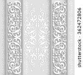 illustration of paper border... | Shutterstock .eps vector #362472806