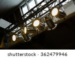 bright floodlights attached to... | Shutterstock . vector #362479946