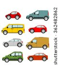set of cartoon cars on a white... | Shutterstock .eps vector #362482862