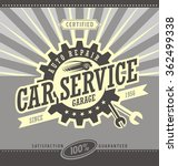car service retro banner design ... | Shutterstock .eps vector #362499338