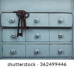 old keys inside a drawer in a... | Shutterstock . vector #362499446