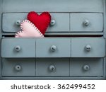 two hearts inside a drawer in a ... | Shutterstock . vector #362499452