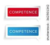 competence concept label vector | Shutterstock .eps vector #362501342
