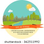 travel and adventure. beautiful ... | Shutterstock .eps vector #362511992