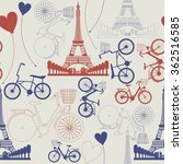 seamless pattern of france... | Shutterstock .eps vector #362516585