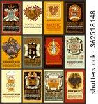 beer labels set  for valentine...   Shutterstock .eps vector #362518148