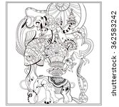vector adult coloring book page ... | Shutterstock .eps vector #362583242