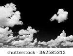 white cloud on black background   Shutterstock . vector #362585312