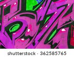 beautiful street art graffiti.... | Shutterstock . vector #362585765