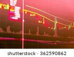 financial data on monitor.... | Shutterstock . vector #362590862