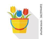 gardening flower flat icon | Shutterstock .eps vector #362594492